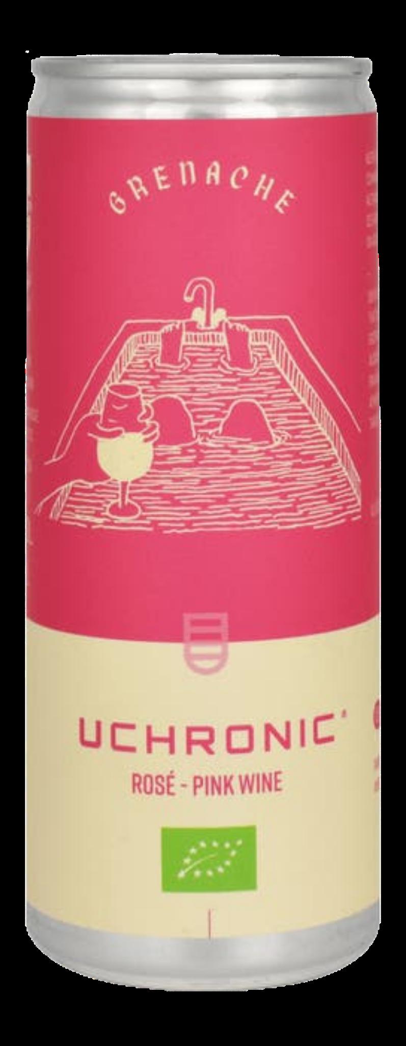 vin rosé bio en canette - Grenache IGP pays d'oc
